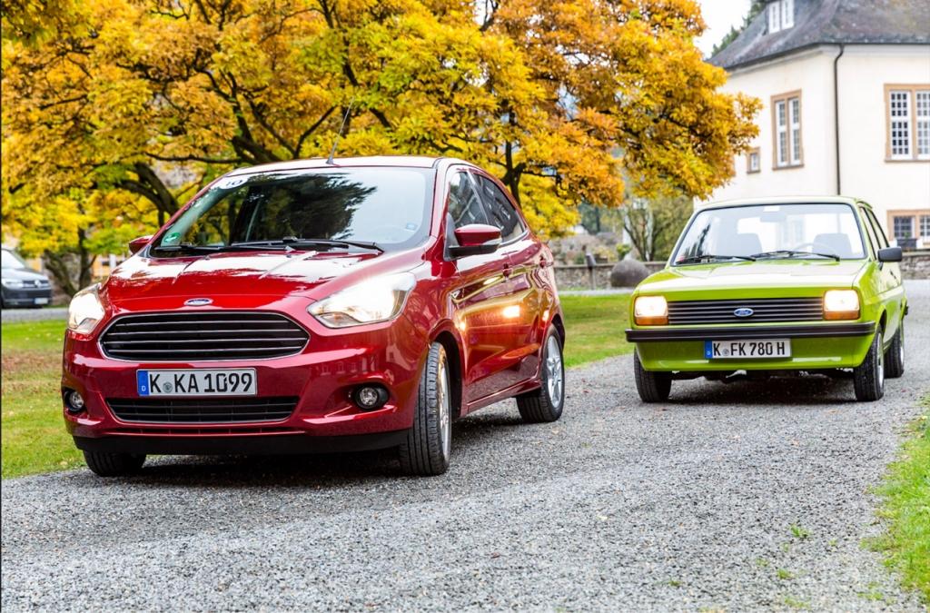 Neuer Ford KA+und Ford Fieste MK1