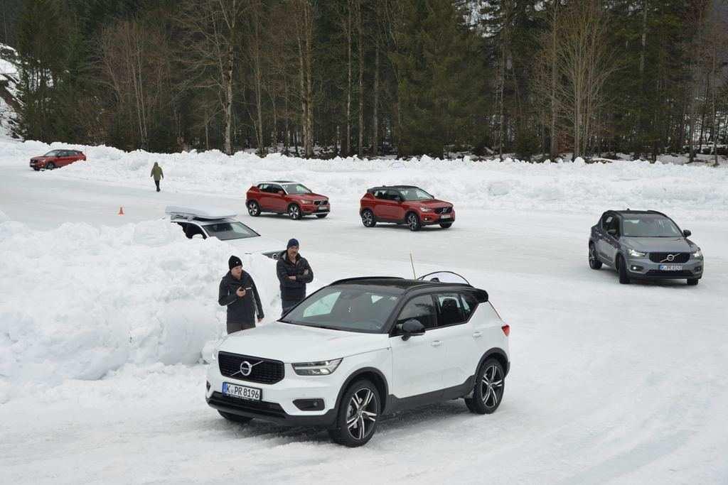 Volvo XC40: Winter Testfahrten