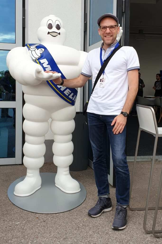 Michelin Bibendum und Daniel Przygoda