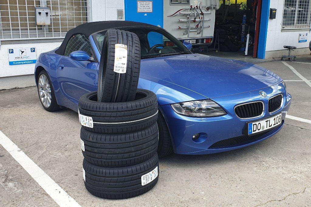 BMW Z4 neue Reifen bei Noble Paint, Böblingen