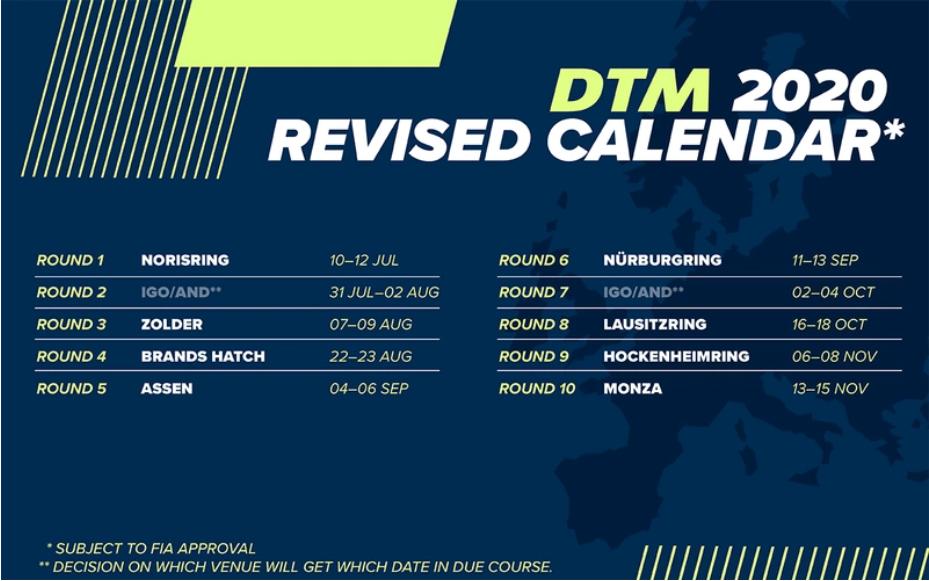 DTM 2020 - Update