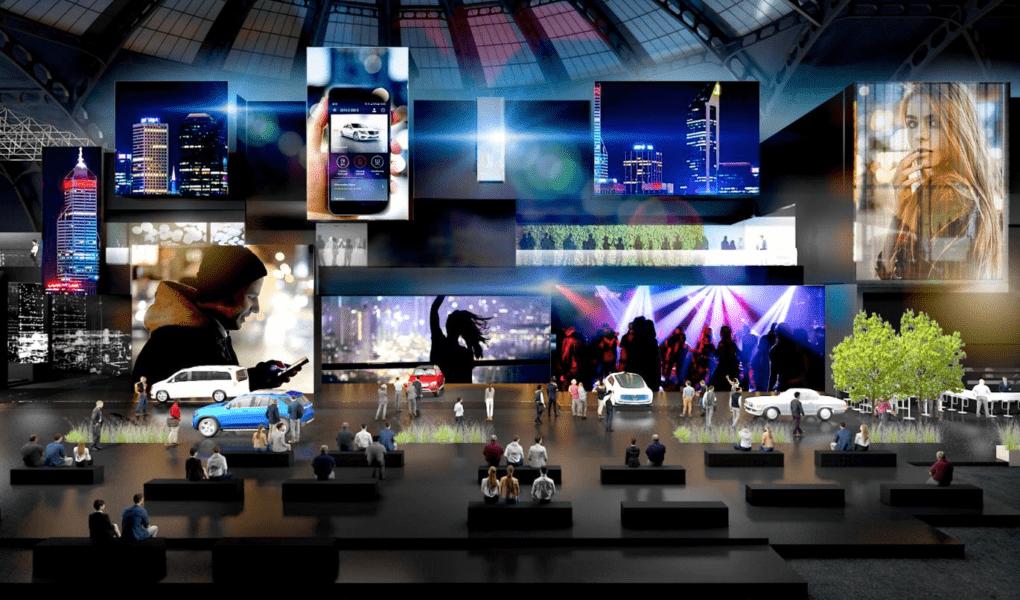 Daimler Messestand bei der IAA 2019