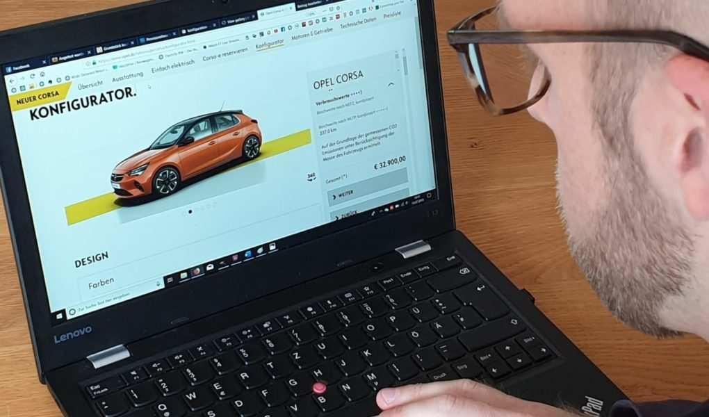 Opel Corsa-E, Konfigurator, Daniel Przygoda
