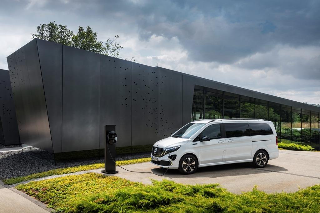Mercedes EQV an Wallbox