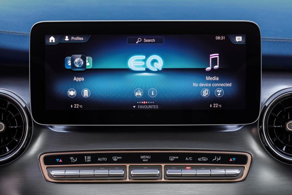 Mercedes EQV MBUX mit 10 Zoll Touchscreen