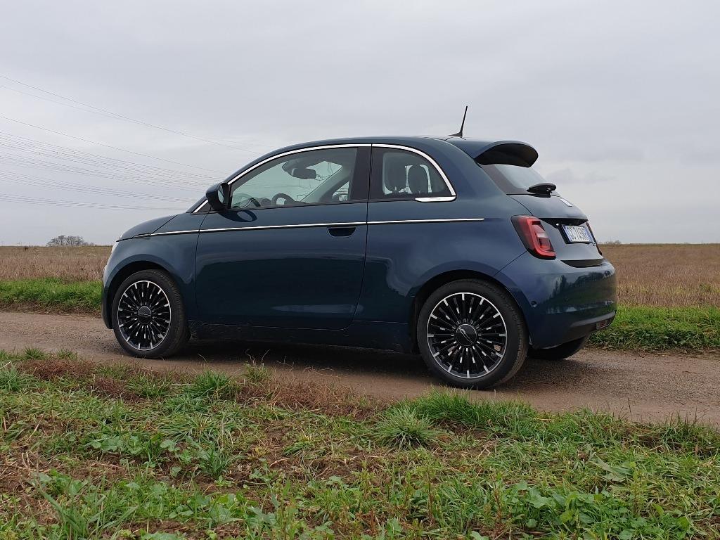 Fiat 500, Icon, Ozean Grün 5CE, Seitenansicht
