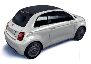 Fiat 500 Cabriolet (2020), Arktis Weiß