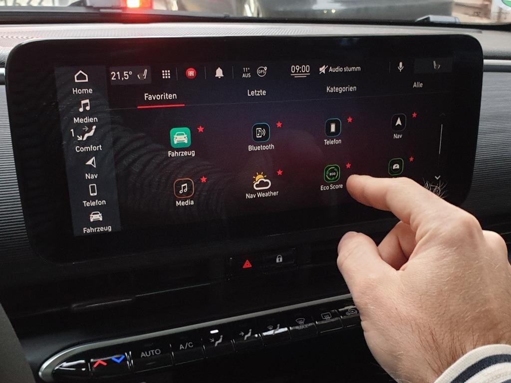 Uconnect 5 im Fiat 500 mit 10,25 Zoll Touchscreen