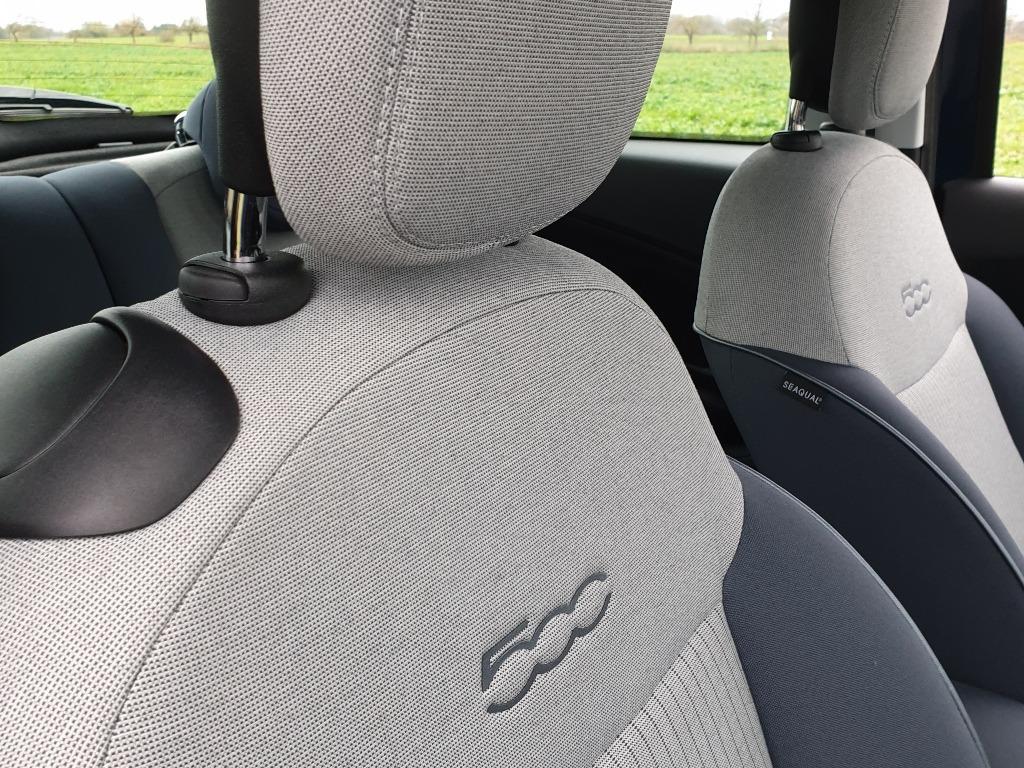Fiat 500 Seaqual Stoffsitze Nadelstreifen, Opt 52J: Farbcode 784