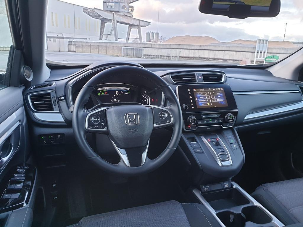 "Innenausstattung: Honda CR-V Hybrid Facelift 2021 ""Elegance"" mit Digitaltacho, Lederlenkrad"