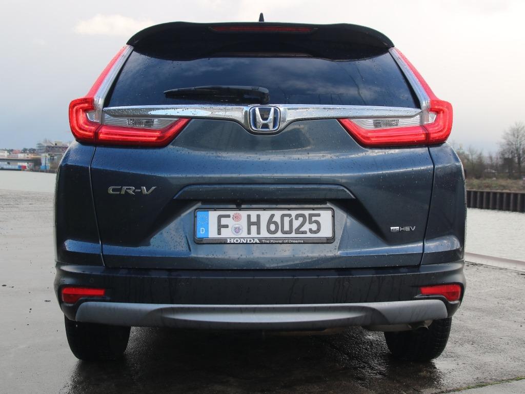 Heckansicht: Honda CR-V (Facelift) in Cosmic Blue Metallic