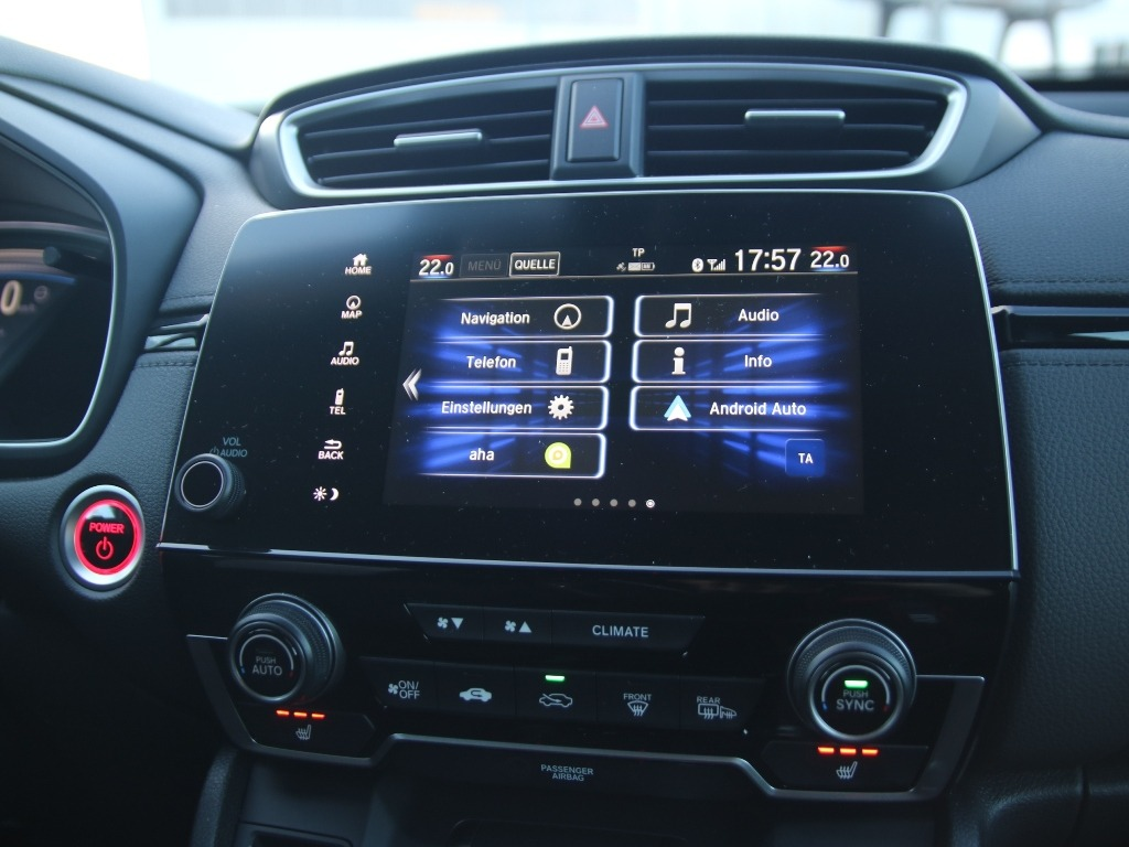 Honda Connect mit 7 Zoll Touchscreen und Android Auto, Apple CarPlay