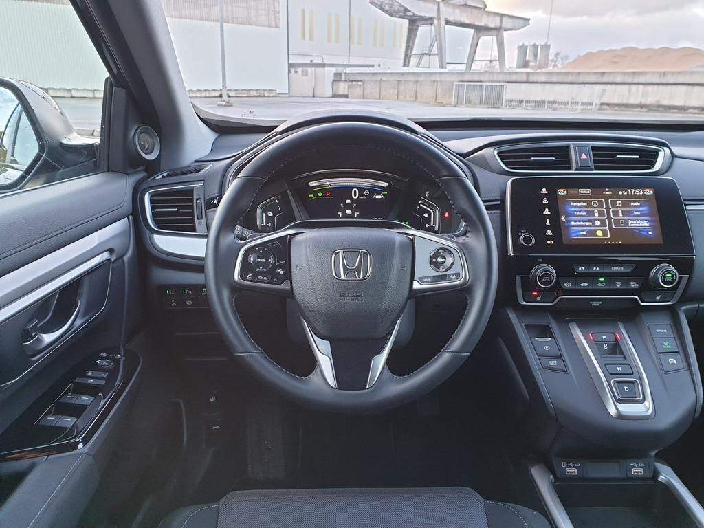Lederlenkrad, Digitaltacho, Interieur im Honda CR-V Facelift, 2021 (Armaturenbrett)