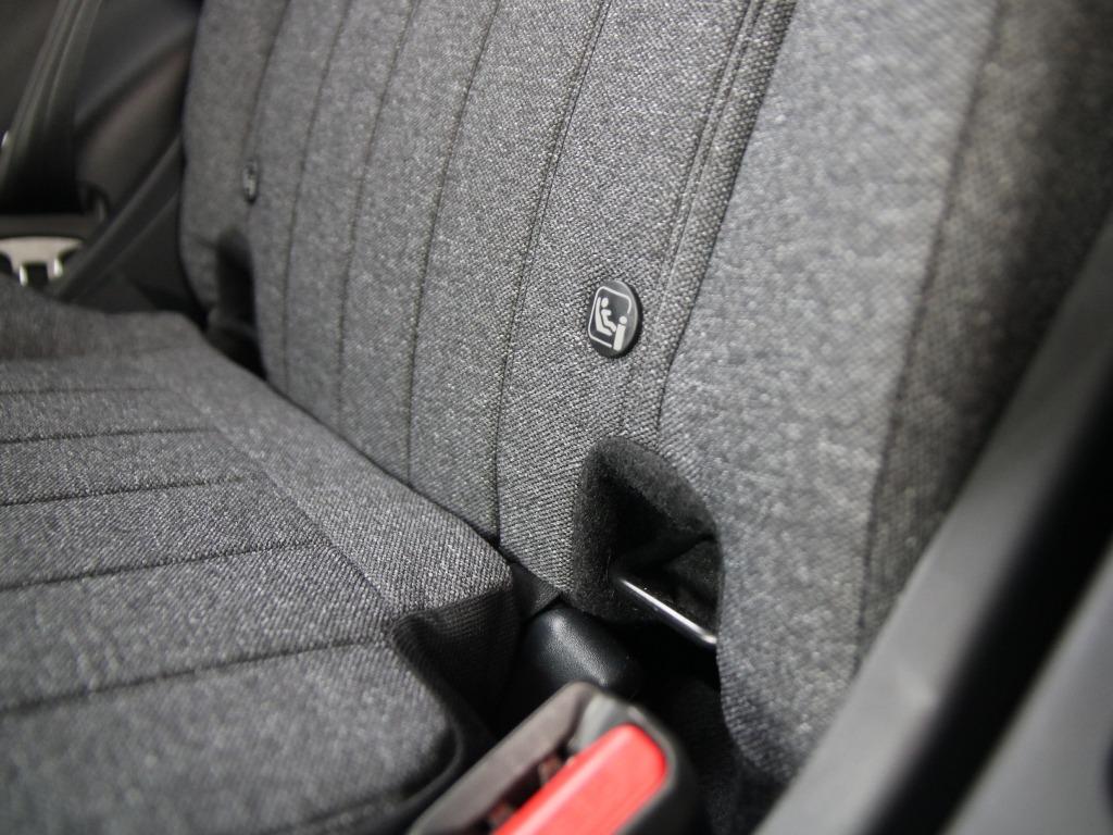 Isofix-Halterungen für die Montage von Kindersitzen auf der Rücksitzbank