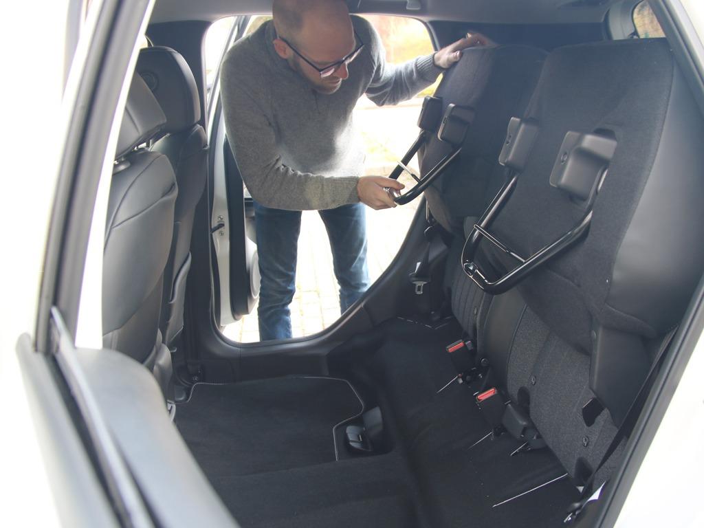 Die Magic Seats im neuen Honda Jazz lassen sich wie Kinosessel hochklappen