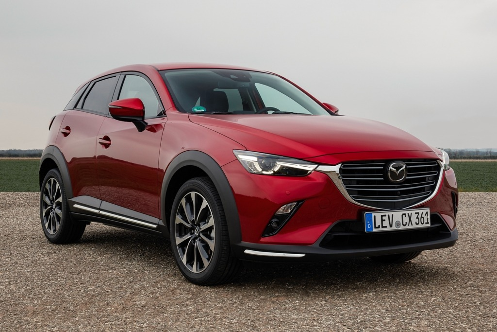 Mazda CX-3 (2021) Facelift in Magmarot