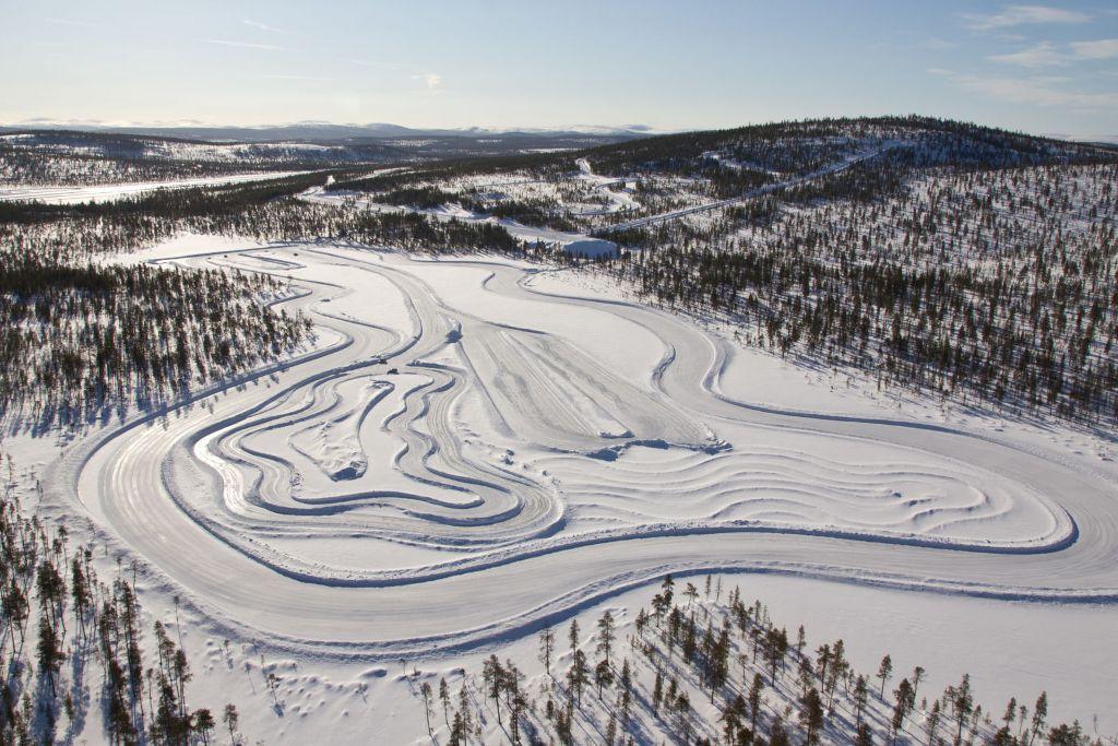 White Hell - Teststrecke für Wintertests in Ivalo am nördlichen Polarkreis (Finnland/Lappland)