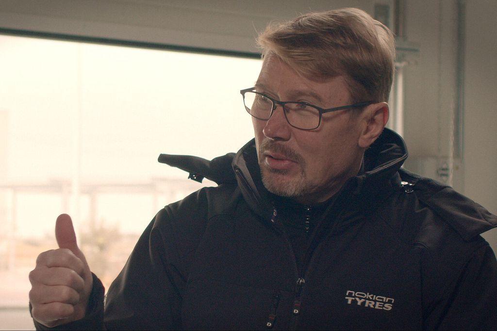 Mika Häkkinen auf dem Test-Center von Nokian Tyres in Spanien