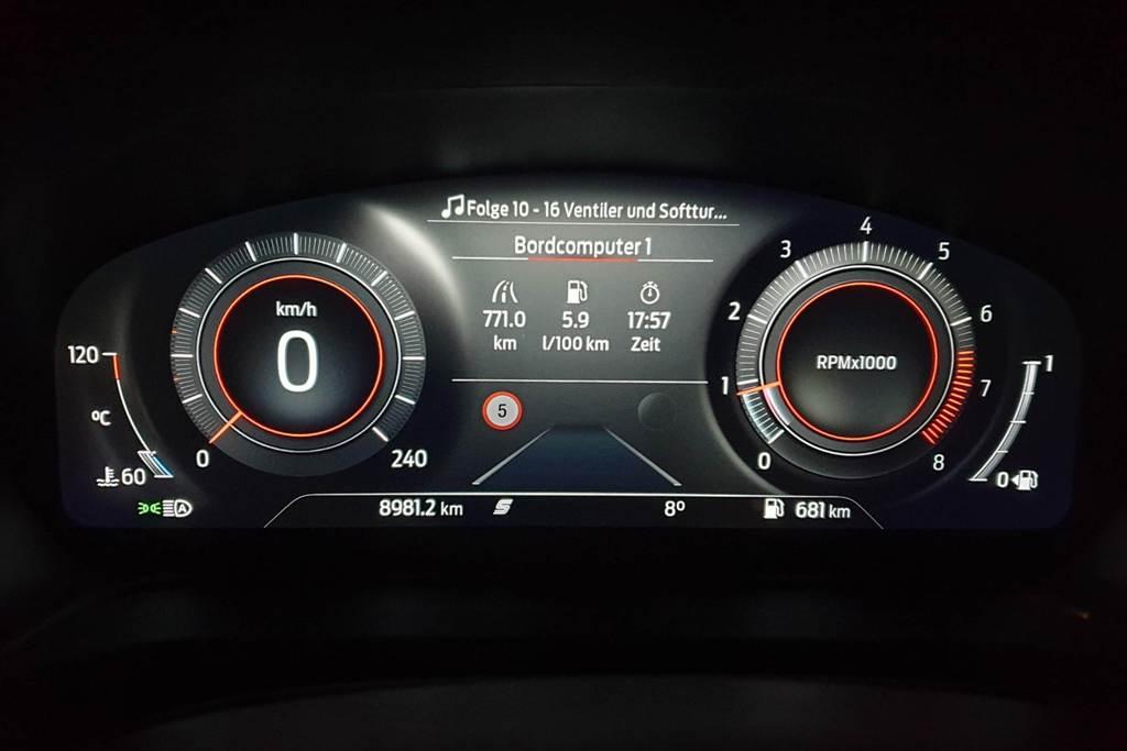 "Digitaltacho ""Sport-Modus"" im Ford Puma mit Bordcomputer (Verbrauch)"