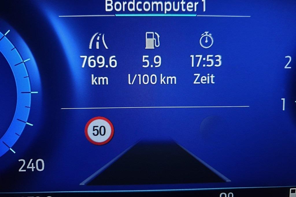 Ford Puma Verbrauch 155 PS EcoBoost Erfahrung (Bordcomputer)