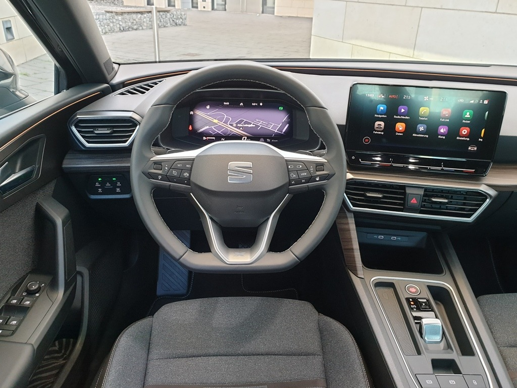 Digital Cockpit im Seat Leon in der Xcellence-Ausstattung (2021) - Seat Leon 4 (Typ KL)