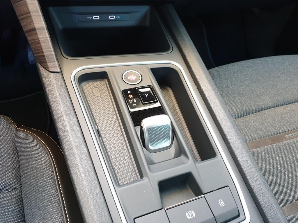 DSG-Schalthebel im Seat Leon (Mittelkonsole)