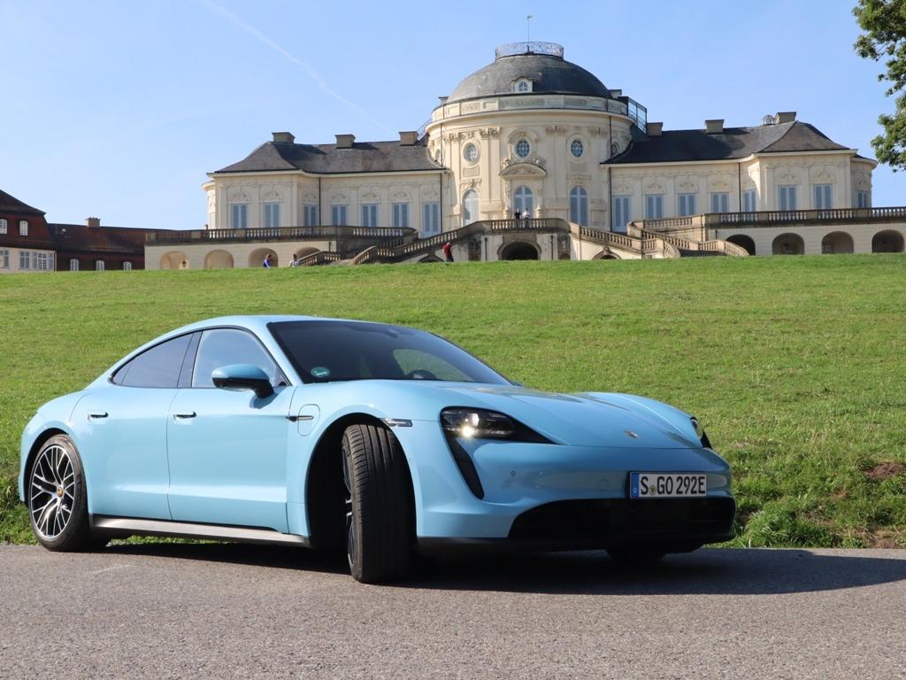 Porsche Taycan in Stuttgart