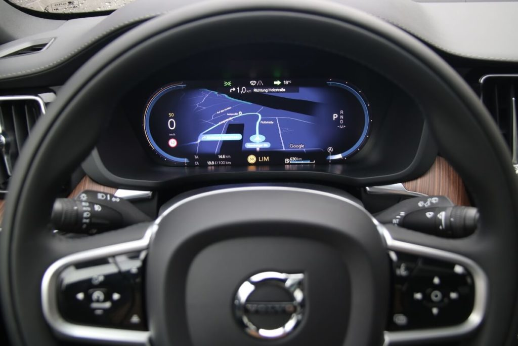 Neues Digitalcockpit im Volvo XC60 Modelljahr 2022