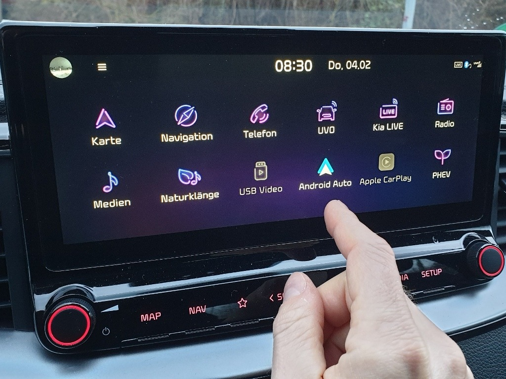 Android Auto, Touchscreen