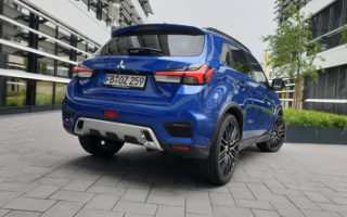 Mitsubishi ASX Facelift, 2020, Laser Blau, BMW-Rückleuchte