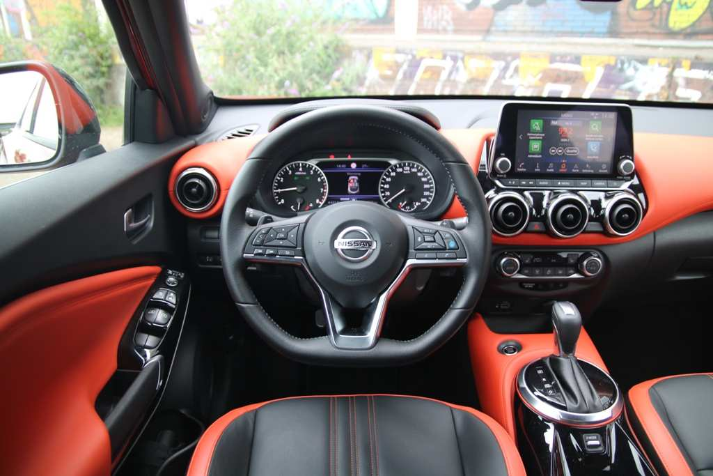 Nissan Juke, Lenkrad, Armaturenbrett, orange, N-Design/Active